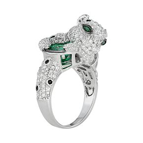 Sterling Silver Cubic Zirconia Panther Ring