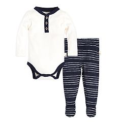 Baby Boy Burt's Bees Baby Organic Painted Lullaby Bodysuit & Printed Footed Pants Set