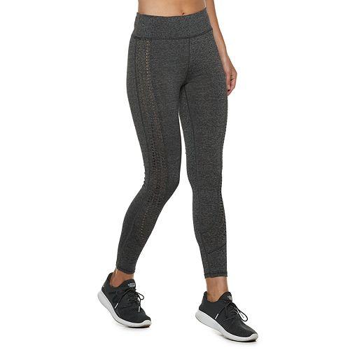 612d7e443c7440 Women's Adrienne Vittadini Lasercut High-Waisted Leggings