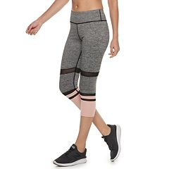 Women's Adrienne Vittadini Power Mesh High-Waisted Capri Leggings