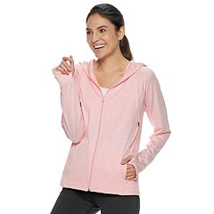 Women's Adrienne Vittadini Tech Fleece Zip Up Hoodie