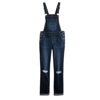 Girls 7-16 Vanilla Star Deconstructed Overalls
