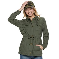 Juniors' Mudd® Utility Jacket