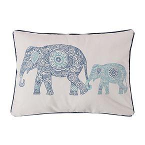 Levtex Tania Elephants Throw Pillow