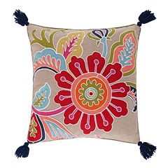 Levtex Jules Crewel Flower Throw Pillow