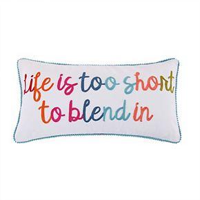 "Levtex Jules ""Life is Too Short"" Throw Pillow"