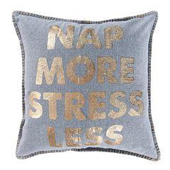 Levtex Nap More Stress Less Throw Pillow