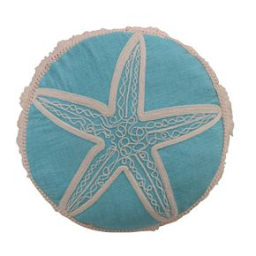 Levtex Beacon Round Starfish Tassel Throw Pillow