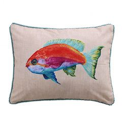Levtex Beacon Fish Print Throw Pillow