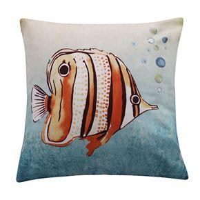 Levtex Lyra Reef Printed Fish Throw Pillow