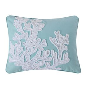 Levtex Icaria Crewel Coral Throw Pillow