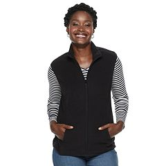 Women's Croft & Barrow® Mockneck Fleece Vest
