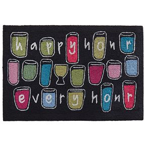 Liora Manne Frontporch Happy Hour Every Hour Indoor Outdoor Rug