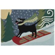Liora Manne Frontporch Toboggan Dog Indoor Outdoor Rug