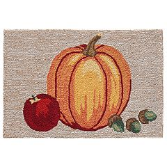 Liora Manne Frontporch Pumpkin Indoor Outdoor Rug