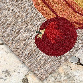 Liora Manne Frontporch Pumpkin Indoor Outdoor Rug