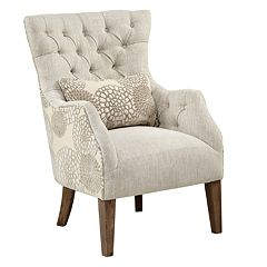 Madison Park Furlong Accent Chair with Back Pillow