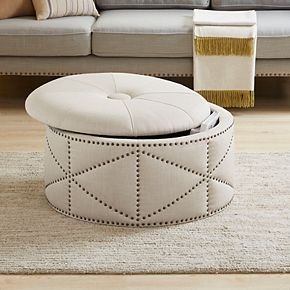 Madison Park Tarboro Cocktail Storage Ottoman