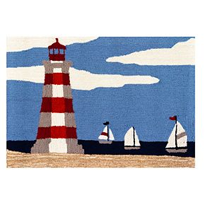 Liora Manne Frontporch Lighthouse Indoor Outdoor Rug