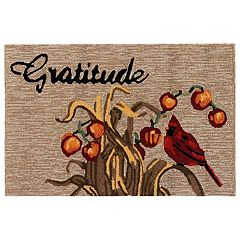 Liora Manne Frontporch Gratitude Indoor Outdoor Rug