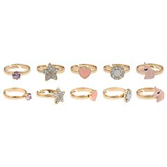 Girls 4-16 Elli by Capelli Unicorn Adjustable Ring Set