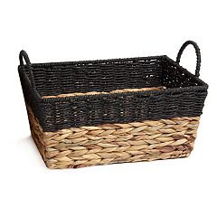 Natural Colorblock Storage Basket