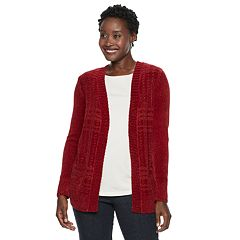 Women's Croft & Barrow® Open Front Chenille Cardigan
