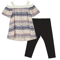 Girls 7-16 IZ Amy Byer Cold Shoulder Top & Legging Set