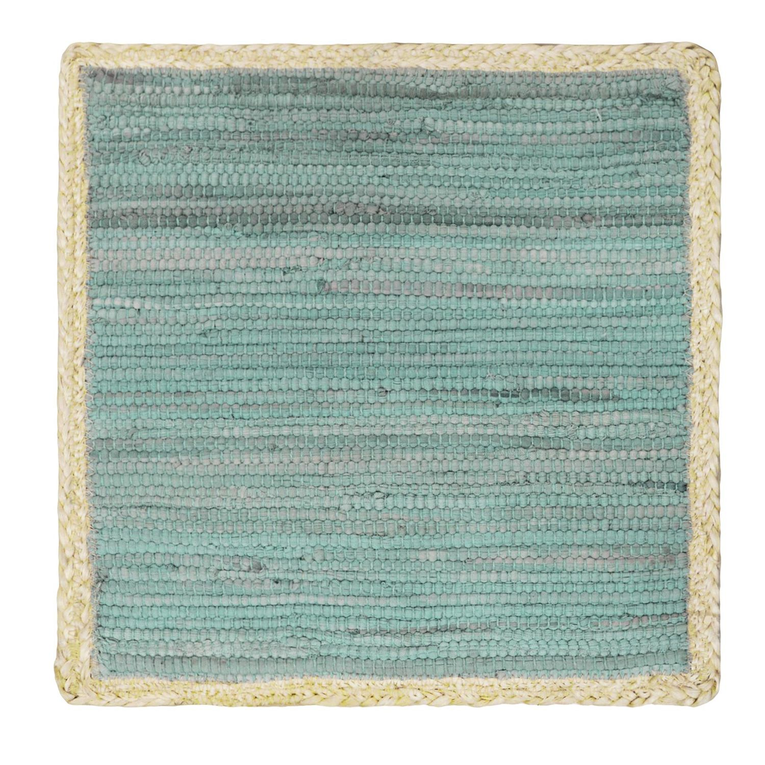 Charmant Food Network™ Jute Blue Chindi Square Placemat