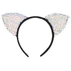 Girls 4-16 Elli by Capelli Flip Sequin Cat Ears Headband
