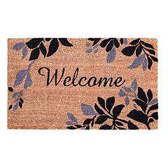 Liora Manne Dwell Leaves Border Indoor Outdoor Coir Doormat