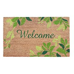 Liora Manne Dwell Leaves Border Indoor Outdoor Coir Doormat