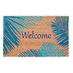 Liora Manne Dwell Palm Border Indoor Outdoor Coir Doormat