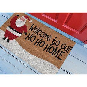 Liora Manne Natura Ho Ho Home Indoor Outdoor Coir Doormat - 18'' x 30''