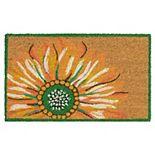 Liora Manne Natura Sunflower Indoor Outdoor Coir Doormat - 18'' x 30''