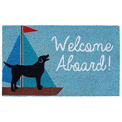 Liora Manne Natura Welcome Aboard Indoor Outdoor Coir Doormat - 18'' x 30''
