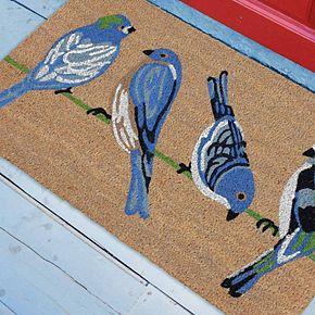 Liora Manne Natura Blue Birds Indoor Outdoor Coir Doormat - 18'' x 30''