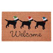 Liora Manne Natura Three Dogs Welcome Indoor Outdoor Coir Doormat - 18'' x 30''