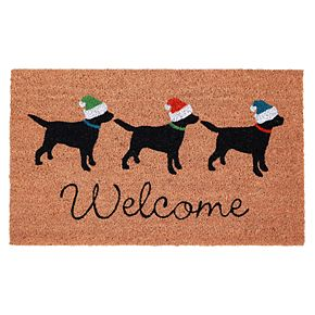 Liora Manne Natura Three Dogs Welcome Indoor Outdoor Coir Doormat - 18'' x 30''
