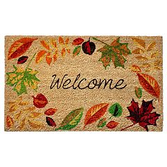 Liora Manne Natura Welcome Leaves Indoor Outdoor Coir Doormat - 18'' x 30''