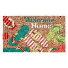 Liora Manne Natura Flip Flops Welcome Indoor Outdoor Coir Doormat - 18'' x 30''