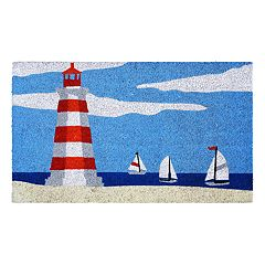Liora Manne Natura Lighthouse Indoor Outdoor Coir Doormat - 18'' x 30''