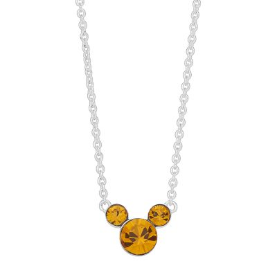 Disney Mickey Mouse 90th Anniversary Birthstone Necklace