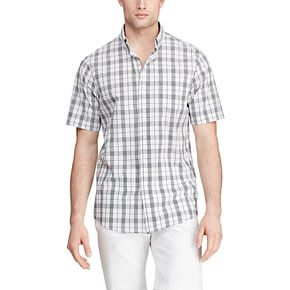 Men's Chaps Classic Fit Short Sleeve Easy Care Button-Down Shirt