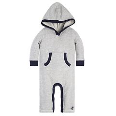 Baby Boy Burt's Bees Baby Organic Loose Pique Hooded Jumpsuit Coverall