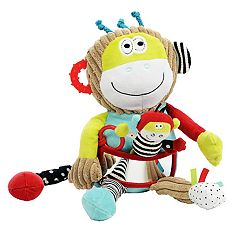 Dolce Plush Play & Learn Monkey Velour Plush Toy