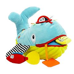 Dolce Plush Whale Activity & Teether Velour Plush Toy