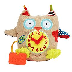 Dolce Plush My First Owl Clock Activity & Teether Velour Plush Toy