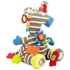 Dolce Plush Zebra Activity & Teether Velour Plush Toy
