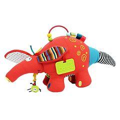 Dolce Plush Aardvark Activity Velour Plush Toy